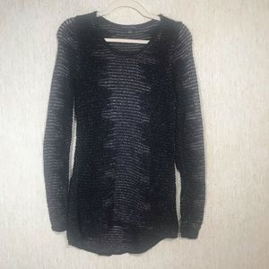 ROCK & REPUBLIC Shimmer Crewneck Tunic, size small